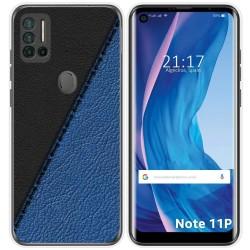 Funda Silicona para Ulefone Note 11P diseño Cuero 02 Dibujos