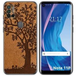 Funda Silicona para Ulefone Note 11P diseño Cuero 03 Dibujos