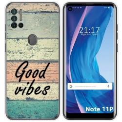 Funda Silicona para Ulefone Note 11P diseño Madera 01 Dibujos