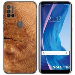 Funda Silicona para Ulefone Note 11P diseño Madera 04 Dibujos