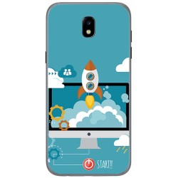 Funda Gel Tpu para Samsung Galaxy J5 (2017) Diseño Cohete Dibujos