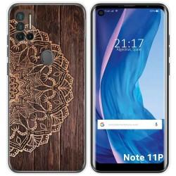 Funda Silicona para Ulefone Note 11P diseño Madera 06 Dibujos