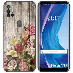 Funda Silicona para Ulefone Note 11P diseño Madera 08 Dibujos