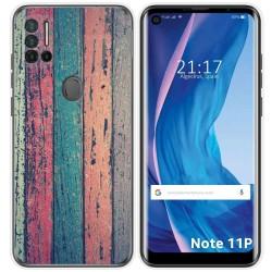 Funda Silicona para Ulefone Note 11P diseño Madera 10 Dibujos