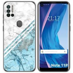 Funda Silicona para Ulefone Note 11P diseño Mármol 02 Dibujos