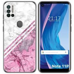 Funda Silicona para Ulefone Note 11P diseño Mármol 03 Dibujos