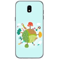 Funda Gel Tpu para Samsung Galaxy J5 (2017) Diseño Familia Dibujos