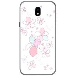 Funda Gel Tpu para Samsung Galaxy J5 (2017) Diseño Flores Minimal Dibujos