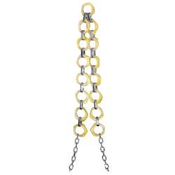 Colgante Cadena Estilo Mármol color Amarillo para Teléfono con Adaptador y tornillos