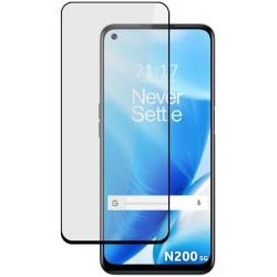 Protector Cristal Templado Completo 5D Full Glue Negro para OnePlus Nord N200 5G Vidrio