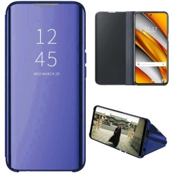 Funda Flip Cover Clear View para Oppo Find X3 Pro 5G color Azul
