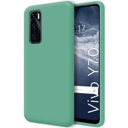 Funda Silicona Líquida Ultra Suave para Vivo Y70 color Verde