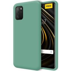 Funda Silicona Líquida Ultra Suave para Xiaomi POCO M3 color Verde