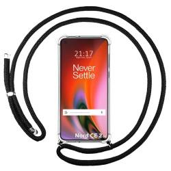 Funda Colgante Transparente para OnePlus Nord 2 5G con Cordon Negro