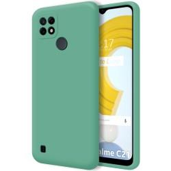 Funda Silicona Líquida Ultra Suave para Realme C21 color Verde