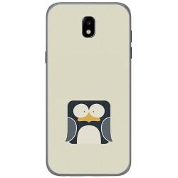 Funda Gel Tpu para Samsung Galaxy J5 (2017) Diseño Pingüino Dibujos
