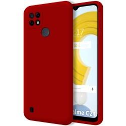 Funda Silicona Líquida Ultra Suave para Realme C21 color Roja