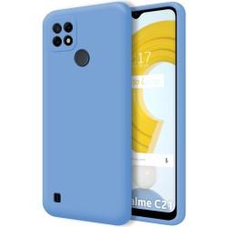 Funda Silicona Líquida Ultra Suave para Realme C21 color Azul