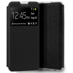 Funda Libro Soporte con Ventana para OnePlus Nord 2 5G color Negra