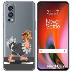 Funda Silicona Transparente para OnePlus Nord 2 5G diseño Avestruz Dibujos