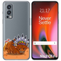 Funda Silicona Transparente para OnePlus Nord 2 5G diseño Bufalo Dibujos
