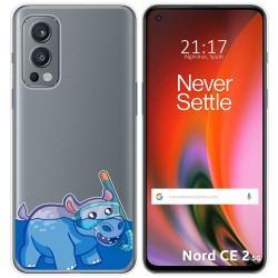 Funda Silicona Transparente para OnePlus Nord 2 5G diseño Hipo Dibujos