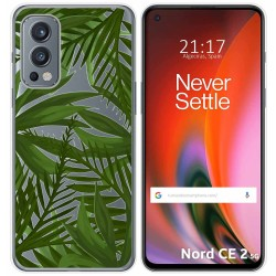 Funda Silicona Transparente para OnePlus Nord 2 5G diseño Jungla Dibujos