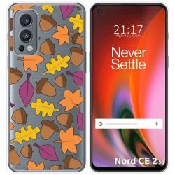 Funda Silicona Transparente para OnePlus Nord 2 5G diseño Otoño Dibujos