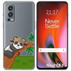 Funda Silicona Transparente para OnePlus Nord 2 5G diseño Panda Dibujos