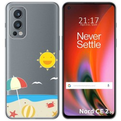 Funda Silicona Transparente para OnePlus Nord 2 5G diseño Playa Dibujos