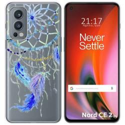 Funda Silicona Transparente para OnePlus Nord 2 5G diseño Plumas Dibujos