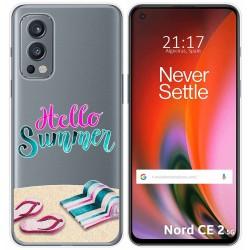Funda Silicona Transparente para OnePlus Nord 2 5G diseño Summer Dibujos