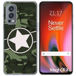 Funda Silicona para OnePlus Nord 2 5G diseño Camuflaje 01 Dibujos