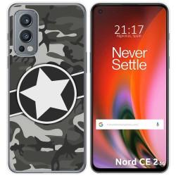 Funda Silicona para OnePlus Nord 2 5G diseño Camuflaje 02 Dibujos