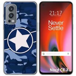 Funda Silicona para OnePlus Nord 2 5G diseño Camuflaje 03 Dibujos