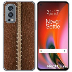 Funda Silicona para OnePlus Nord 2 5G diseño Cuero 01 Dibujos