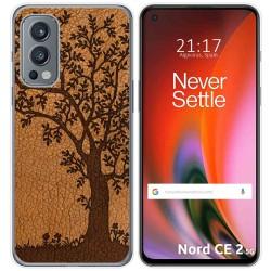 Funda Silicona para OnePlus Nord 2 5G diseño Cuero 03 Dibujos