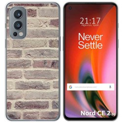 Funda Silicona para OnePlus Nord 2 5G diseño Ladrillo 01 Dibujos