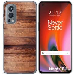 Funda Silicona para OnePlus Nord 2 5G diseño Madera 02 Dibujos
