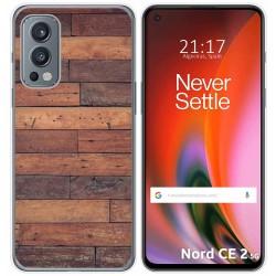 Funda Silicona para OnePlus Nord 2 5G diseño Madera 03 Dibujos