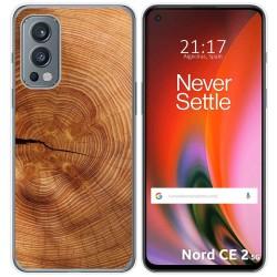 Funda Silicona para OnePlus Nord 2 5G diseño Madera 04 Dibujos