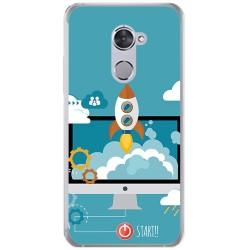 Funda Gel Tpu para Vodafone Smart V8 Diseño Cohete Dibujos