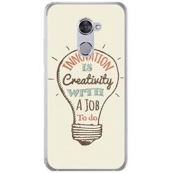 Funda Gel Tpu para Vodafone Smart V8 Diseño Creativity Dibujos