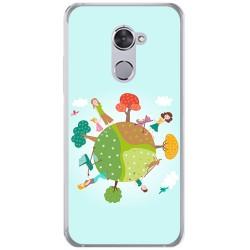 Funda Gel Tpu para Vodafone Smart V8 Diseño Familia Dibujos
