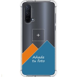 Personaliza tu Funda Silicona AntiGolpes Transparente con tu Fotografía para OnePlus Nord CE 5G Dibujo Personalizada