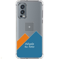 Personaliza tu Funda Silicona AntiGolpes Transparente con tu Fotografía para OnePlus Nord 2 5G Dibujo Personalizada