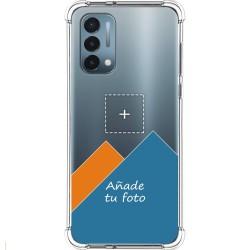 Personaliza tu Funda Silicona AntiGolpes Transparente con tu Fotografía para OnePlus Nord N200 5G Dibujo Personalizada