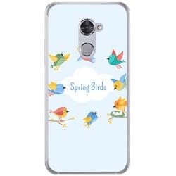 Funda Gel Tpu para Vodafone Smart V8 Diseño Spring Birds Dibujos
