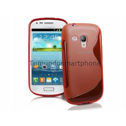 Funda Gel Tpu Samsung Galaxy S3 Mini I8190 S Line Color Roja