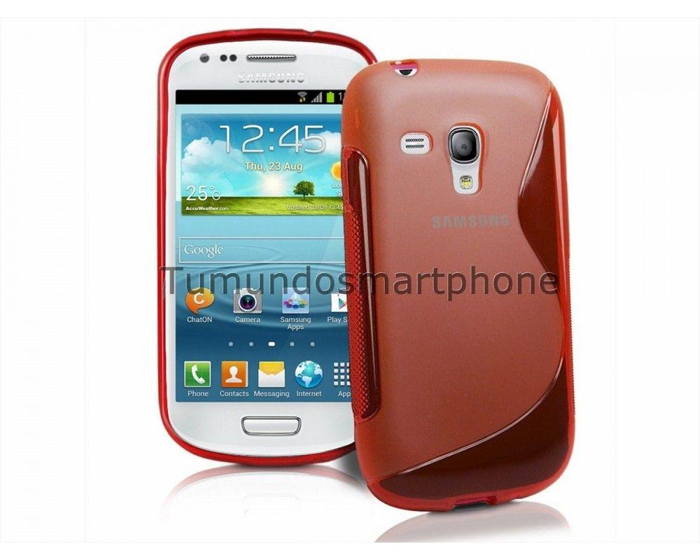Funda Gel Tpu Samsung Galaxy S3 Mini I8190 S Line Color Roja